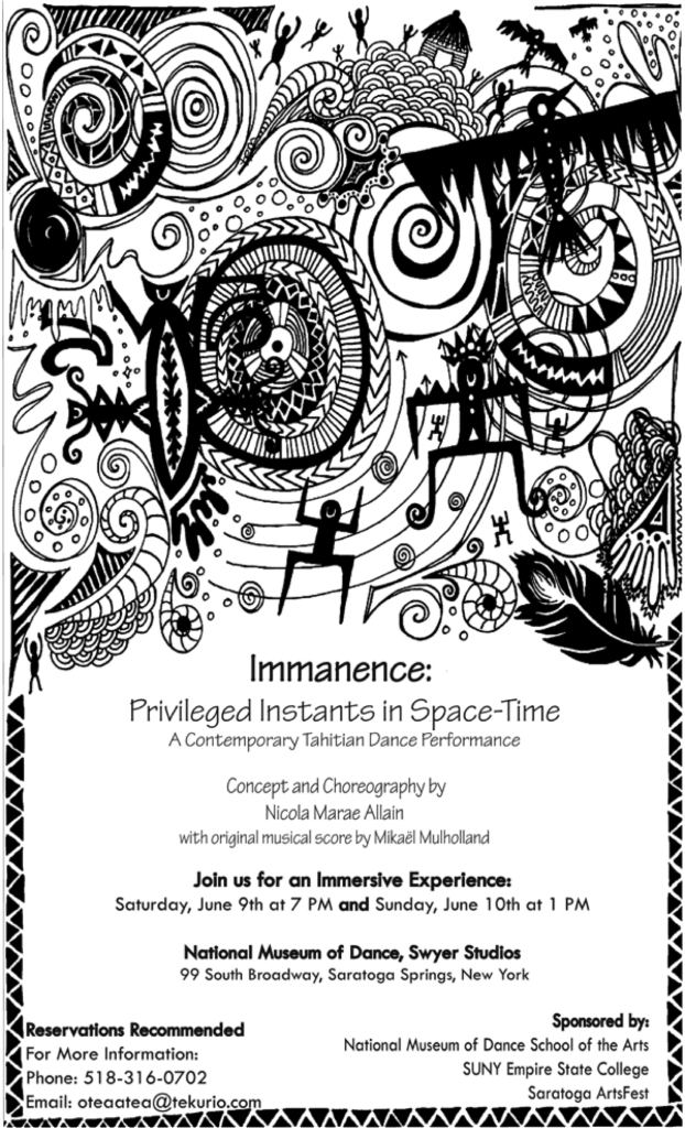 Immanence Poster. Design by Tess Martinez.