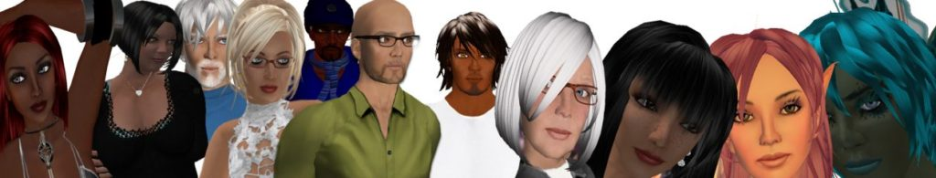 Composite image of 3D Avatars created by Dr. Nicola Marae Allain.